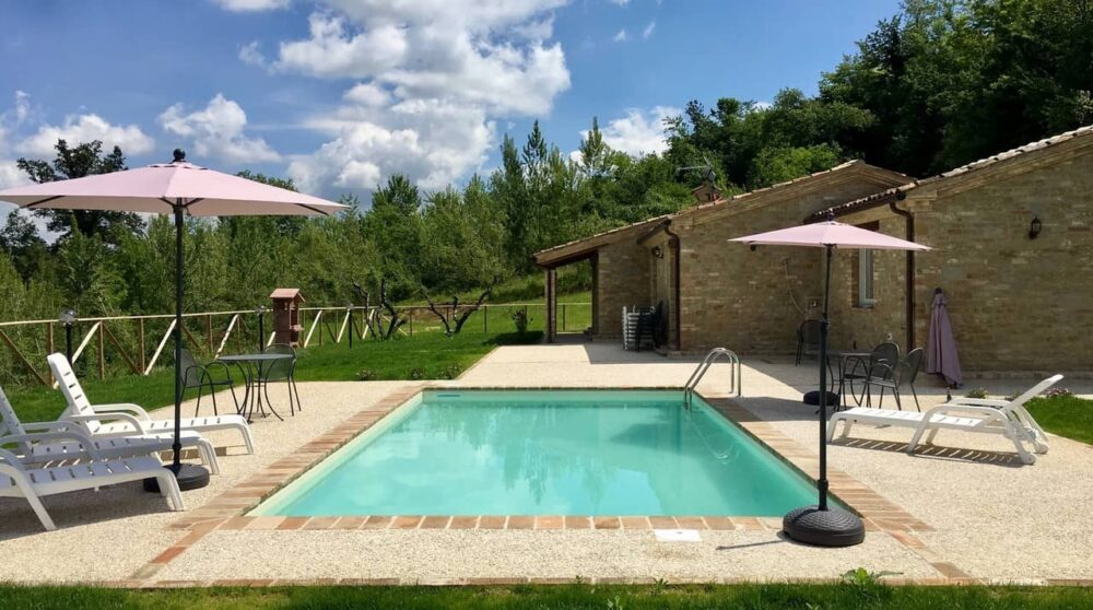 Restored farmhouse with pool and land